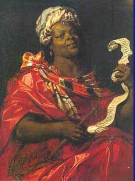 Afrika black woman euro art 16th cent