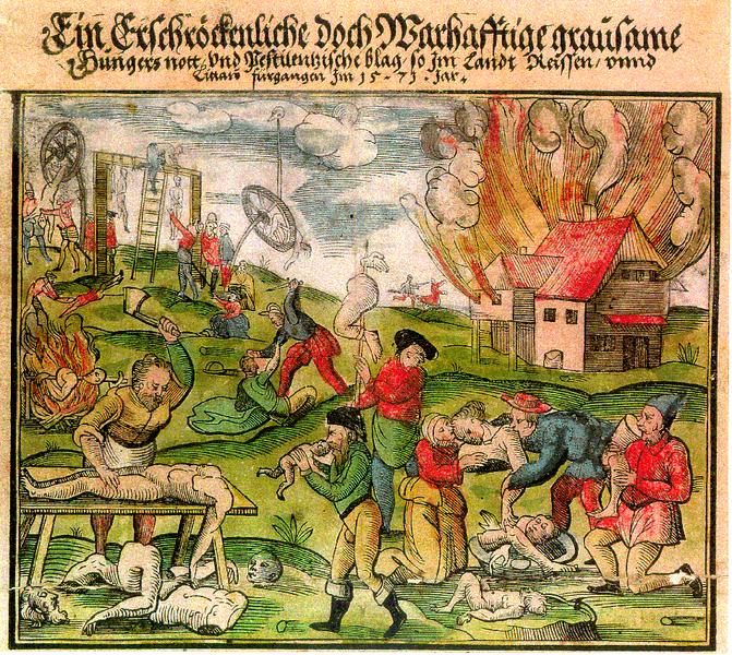 cannibalisme hongersnood Noordoost-Europa 1571