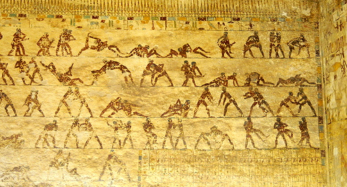 ph. beni hassan tomb wrestlers old kingdom