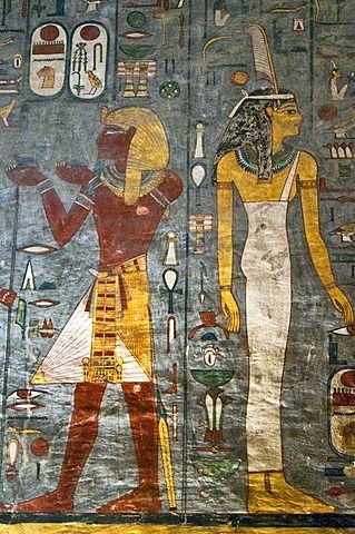 ph. ramesses 1 tomb mural valley of the kings