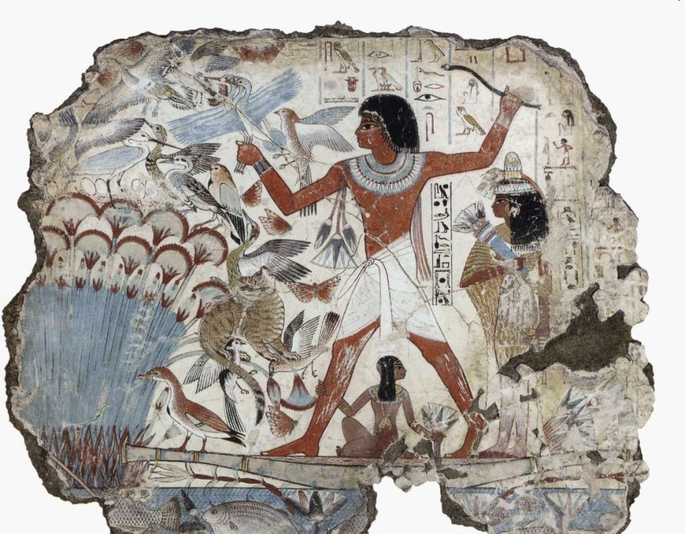 ph. scribe nebamun wall painting 1350 bc