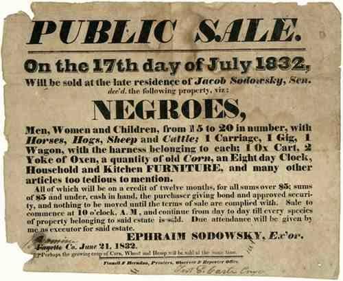 hellacaust slave sales