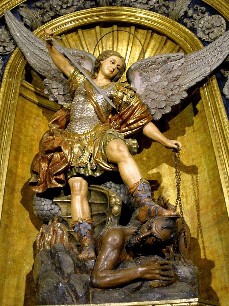 Arcángel Miguel en la Basílica de la Merced (Barcelona).