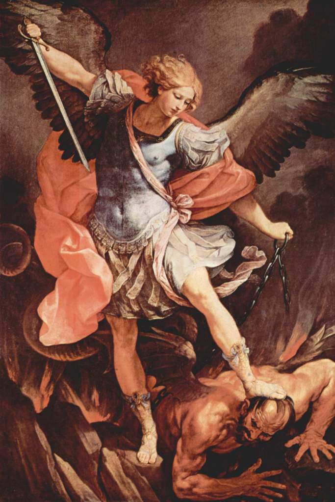 Archangel Michael Defeating Satan, circa 1636 by Guido Reni